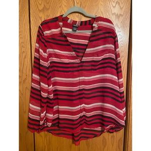 Torrid - Black Red and White Blouse - Size: 2